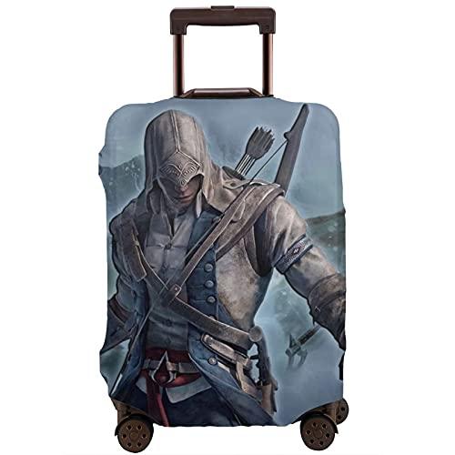 Assassin's Creed - Funda protectora para maleta, lavable, diseño de impresión 3D, 4 tamaños para la mayoría de equipaje con cremallera