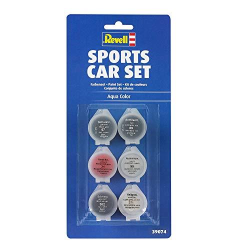 Revell 39074 Aqua Color, Acryl Sportwagen, 6'er Set Modellbau-und Bastelzubehör, 6 Farben