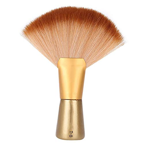 TOOGOO Doux Cheveux Brosse Cou Duster Barbe Brosse Grand Fan-Shaped Nettoyage de Cheveux Brosse à Cheveux Salon Coupe Coiffure Styling Maquillage Outils