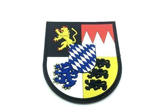 Patch Nation Bavarian Bayern Bayerisch München Nürnberg Wappen Deutsch Kamm PVC Klett Emblem Abzeichen