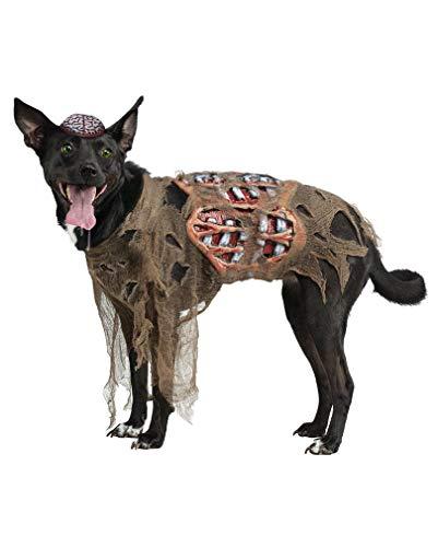 Horror-Shop Zombie Hunde Kostüm für Halloween S