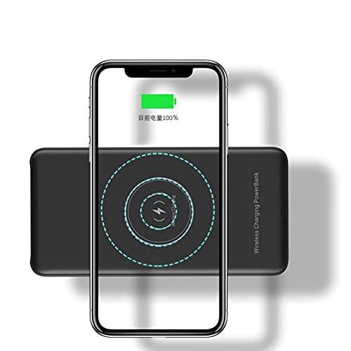 DNGDD Banco de energía inalámbrico de 20000 mAh - [Carga inalámbrica de 10 W + Carga rápida PD de 18 W] Cargador portátil QC 3.0 Paquete de batería Externa con 4 Salidas y 2 entradas para telé