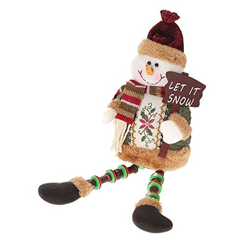 Anself Giocattoli di Peluche Natale Doni 32cm, a Forma di Babbo/ Renna/ Pupazzo di Neve