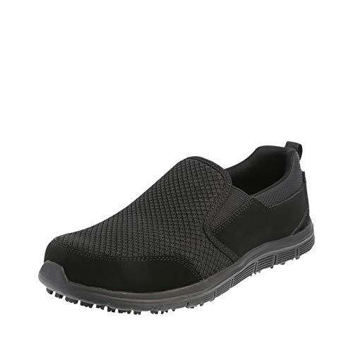 safeTstep Black Men's Slip Resistant Avail Slip-On 7.5 Regular