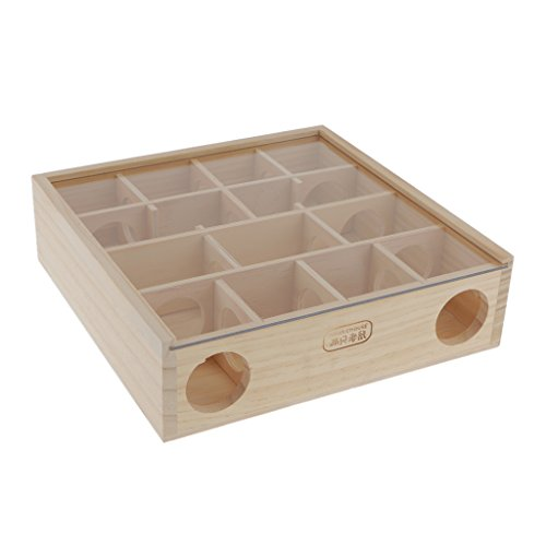 Gazechimp Holz Labyrinth Für Hamster Nager Spielzeug