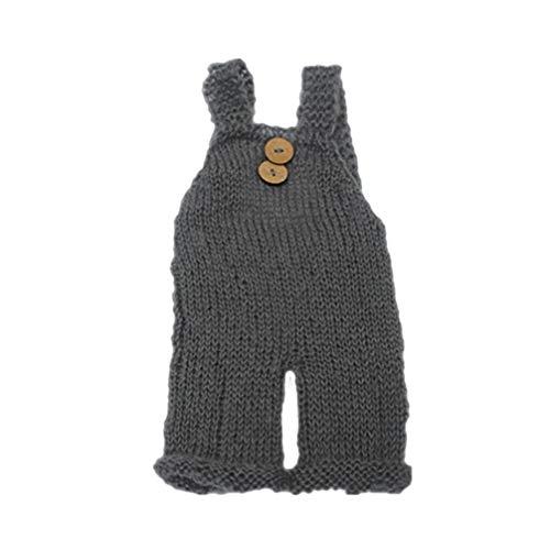Toyvian Neugeborene Strumpfhose Säuglingsfotografie Requisiten Baby kreative Kleidung Hosen (grau 0-3 Monate)