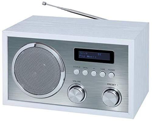 Terris DAB + Radio mit Bluetooth NRD 274 Nostalgie-Radio | UKW-Retroradio mit Bluetooth | 2 Alarmzeiten mit Radiowecker | AUX-IN | Kopfhörereingang | Walnuss
