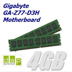 DSP Memory 4GB Speicher/RAM für Gigabyte GA-Z77-D3H Motherboard (Set aus 2 Modulen)