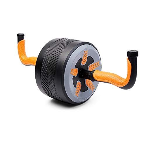 YUN HAI Gimnasio En Casa AB Roller Wheel Caldera Campana 2 Tipos De Rebote Automático, 330 Libras De Capacidad, Soft Knee Pad, Pesado AB Trainer For Abdominal Core Entrenamiento (Color : Naranja)