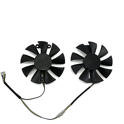 GA91S2U PowerColor Red Devil RX580 GPU Fan de enfriamiento del refrigerador para Radeon Red Dragon AX RX 480 470 580 Tarjetas de Video como Ventilador de reemplazo