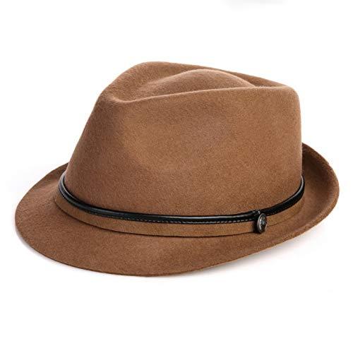 CHENGWJ Hut Fedora Panama männlich Herbst Und Winter Wollmütze Mode Vielseitig Elegant Weiblich Winter Jazzmütze Wintermütze