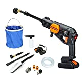 Cordless Pressure Washer Power Cleaner with battery, KINGSHOWDEN Pressure Washer Cleaner 320PSI w/