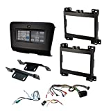 SCOSCHE ITCCR07B Integrated Touchscreen Car Stereo Installation Dash Kit for 2015-Up Dodge Charger