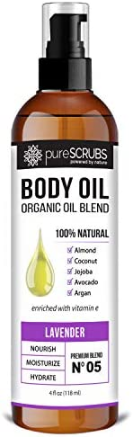pureSCRUBS Ultra Moisturizing LAVENDER BODY OIL Spray For Dry Skin Massage Cuticles More Organic product image