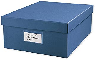 Cancelled Check Storage Box, Includes 12 dividers and Clear Outside Label, Great for Business or Personal-Size Checks! Size: 12