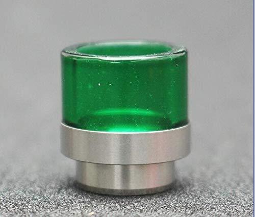 Fang-denghui 1pc 810 Anti-Aceite for freír Drip Tip 810 Drip Tip Vidrio + Acero Inoxidable en Forma for el RDA de Calibre Ancho Boquilla (Color : Verde)