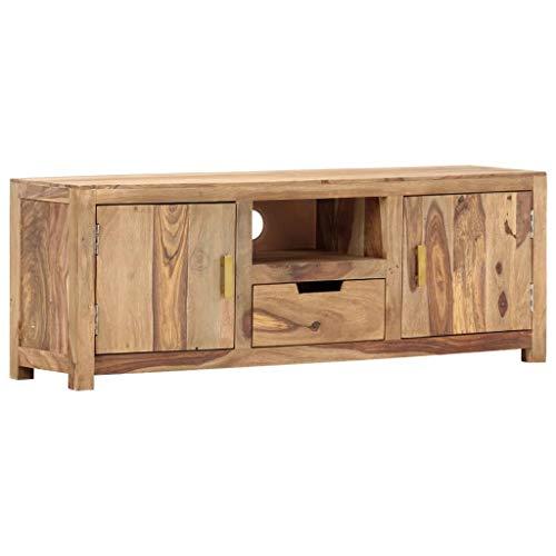 vidaXL Sheesham-Holz Massiv TV Schrank Fernsehschrank Lowboard Sideboard Fernsehtisch TV Möbel Board HiFi-Schrank Palisander 118x29x42cm