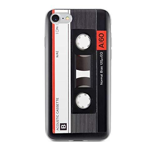 Finoo Handyhülle - Schutzhülle kompatibel mit iPhone 7/8 - Hardcase-Bumper - Transparent, Ultra-dünn & leicht - Kassette Rot