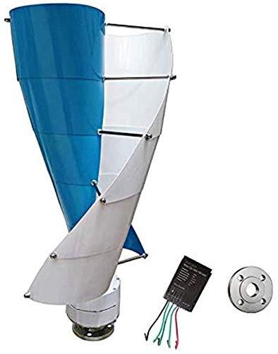 RDJM Windturbine 400W Vertical Spiral Wind Turbine-Generator, 12V / 24V Mehrere Farboption With600w Laderegler
