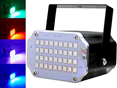 Disco Strobe Light, Latta Alvor Stage Light for Parties 36 LED Flash Strobe Lights with Sound Activated and Speed Control for Party Wedding DJ Lights Disco Lighting KTV Bars Lights (multicolored)
