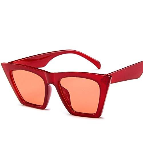 Moda Gafas De Sol Cuadradas De Moda para Mujer, Diseñador De Lujo, Hombre, Mujer, Ojo De Gato, Gafas De Sol, Clásico, Vintage, Uv400, Rojo Al Aire Libre
