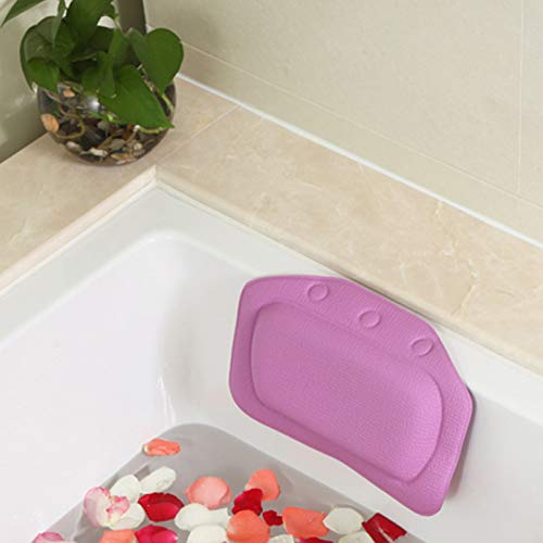 BAOFUR Cushioned Bathtub Head Rest Pillow With Suction Cups For Neck And Back,Non-Slip Spa Bathtub Pillow,made Of PVC,waterproof And Non-slip.