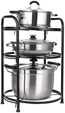 Usmascot Multicapa Estanter/ía de Sartenes,Soporte de Ollas y Sartenes Negro, 3-Niveles Accesorios para Muebles de Cocina Organizador de sartenes
