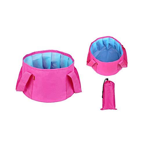 Wankd Draagbare klapbekken, vouwschotel, klapbekken dichte lichte draagbare wastafel met draagtas voor camping reizen Washing Fishing 31 * 20 cm 31*20CM rozerood