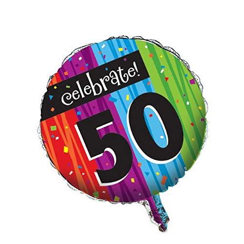 Creatieve converterende partij decoratie ronde metalen ballon, mijlpaal vieringen 50
