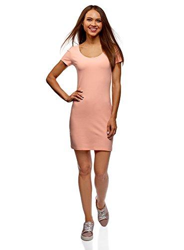 oodji Ultra Damen Baumwoll-Kleid (2er-Pack), Rosa, DE 38 / EU 40 / M