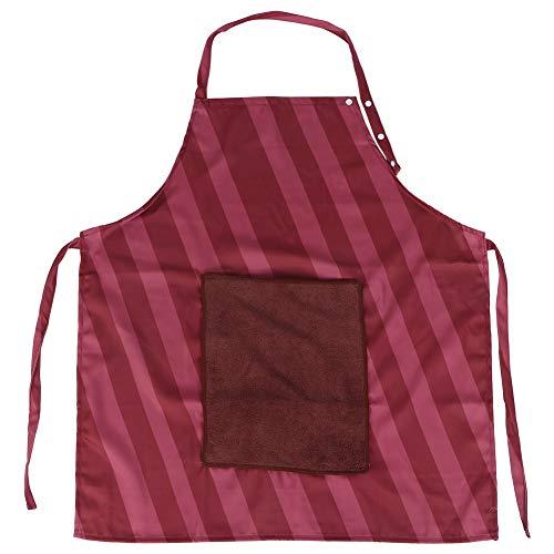 Delantal impermeable para el hogar, delantal antiempañamiento para cocina, restaurante, cocina con bolsillo y bolsillo rojo vino