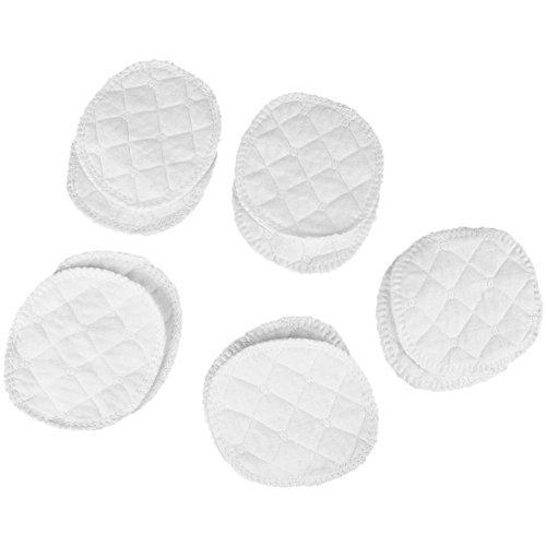 JUNERAIN 10 Stück weiche saugfähige Baumwolle waschbar Wiederverwendbare Stillen Stilleinlagen