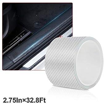 Car Door Edge Guards Door Sill Protector 5D Carbon Fiber Car Wrap Film Vinyl Automotive Wrap Film Car Door Sill Protection Film Anti-Collision