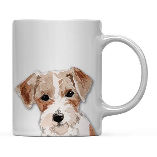 Regalo de Taza de café para Perro, Jack Russell de Pelo de Alambre de Cerca, cumpleaños de Amante de los Animales domésticos para su Familia, 11 oz