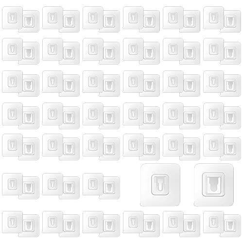 Selbstklebende Haken Transparent, Doppelseitige Selbstklebende Wandhaken 40 Paar, Magischer Haken, Haken Ohne Bohren Bad, Für Küche, Power Board Halterung