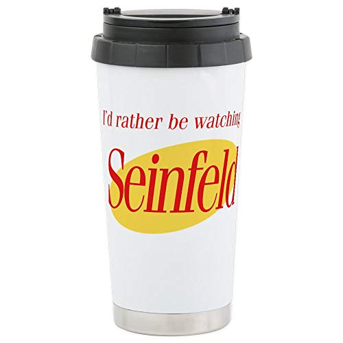 CafePress–ID Rather Be Watching Seinfeld Edelstahl TRA–Thermobecher Edelstahl, isoliert 16Oz Coffee Tumbler