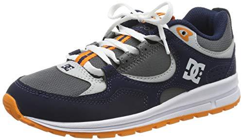 DC Shoes (DCSHI) Kalis Lite-Shoes for Boys, Zapatillas de Skateboard para Niños, Navy/Grey, 34.5 EU