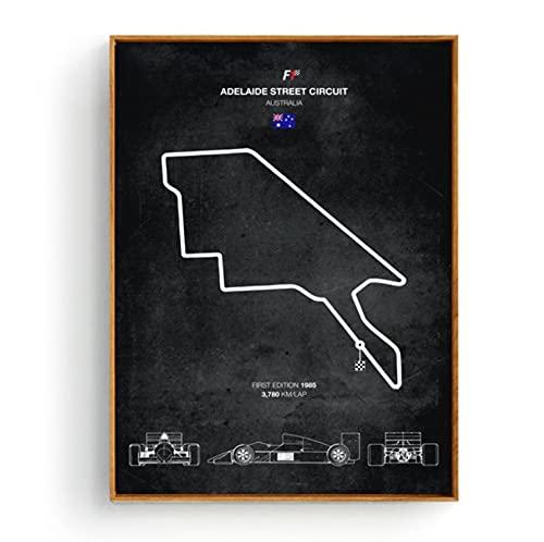 Ausgabe Ford RS Evolution F1 Schaltkreise verfolgen Auto Poster Wandkunst Ölgemälde Bilddrucke Leinwand Wohnzimmer Wohnzimmer Dekor50 * 70CM ohne Rahmen