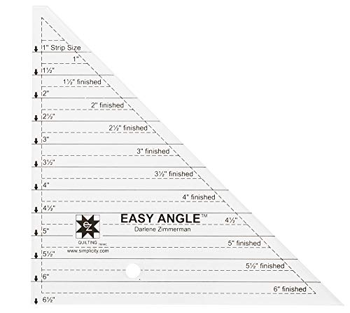 Dimensions Small Easy Angle Triangle Quilting Ruler and Quilting...