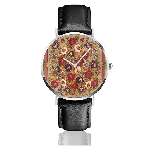 Reloj de pulsera de cuarzo, antiguo ruso bessarabian alfombra impermeable PU correa...