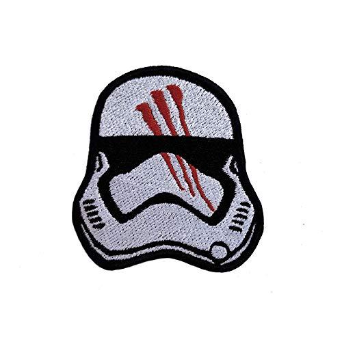 Star Wars Finn casco bordado parches coser hierro sobre pantalones vaqueros chaqueta Insignia Applique