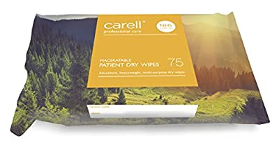 Carell Patient Dry Wipes - Maceratable - 75 Wipes by Gama Healthcare