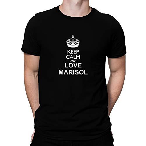 Teeburon Keep Calm and Love Marisol T-Shirt Black
