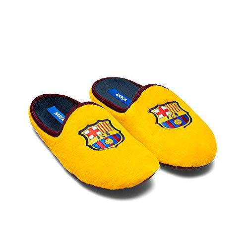 Zapatillas Oficiales FC Barcelona 2a Equipación Zapatillas de Estar por casa Hombre Invierno Otoño - 32 EU