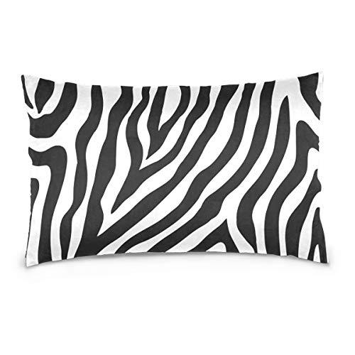 Linomo Funda de almohada de 40,6 x 60,9 cm, diseño de cebra, decoración para sofá, cama, hogar