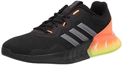 adidas Men's Kaptir Super Running Shoes, Black/Iron Metallic/Grey, 10