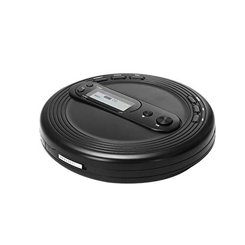 Adesign Reproductor de CD portátil CD Walkman Reproductor de CD Recargable Reproductor de CD Personal portátil con Auriculares Jack CD Music Disc con Pantalla LCD