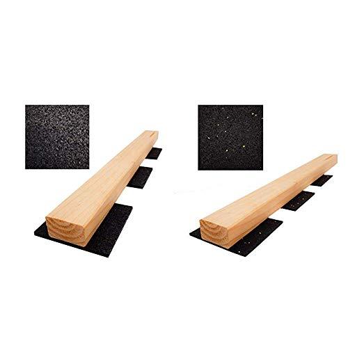 100 Stück 6mm Terrassenpad, Terrassenpads, Gummigranulat, Terrassenbau & Stück 3mm Terrassenpad - 90 x 90 mm Terrassenpads, Gummigranulat-Pads, Terrassenbau