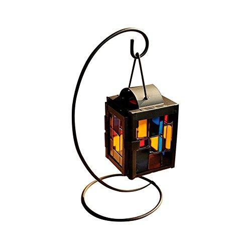 Emorias 1 PCS Bougeoir créatif Cube de photophore Vintage Bar Bureau décoration Romantica Lanterne Loisirs créatifs Bougies
