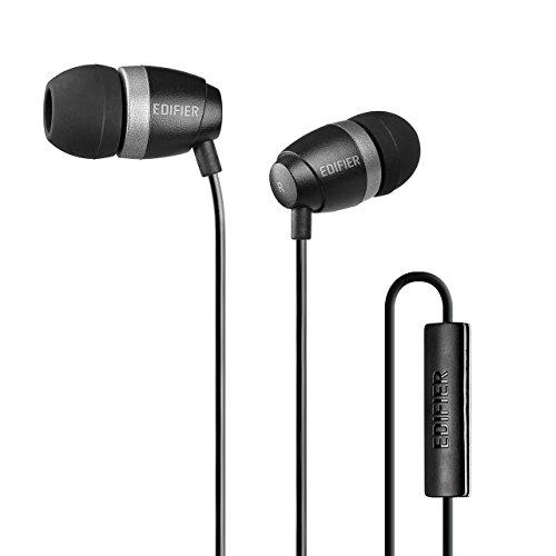 Edifier P210 Mobiles Headset Binaural im Ohr Schwarz Verkabelt - Mobile Headsets (Verkabelt, im Ohr, Binaural, Im Ohr, 20-20000 Hz, Schwarz)
